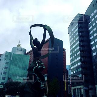 市役所の銅像の写真・画像素材[1326306]