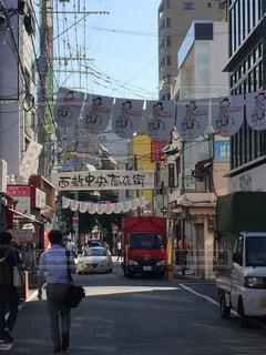 商店街の朝の写真・画像素材[1369911]