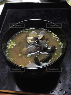 シジミのお味噌汁の写真・画像素材[1449420]