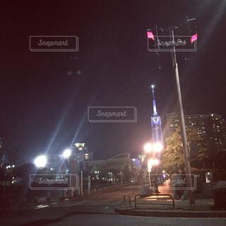 福岡タワーの夜景の写真・画像素材[1746864]