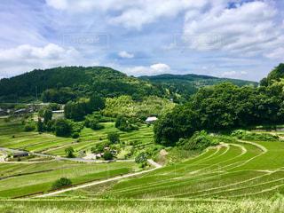 岡山の棚田の風景。の写真・画像素材[1283370]