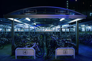 駐輪場の写真・画像素材[1287214]