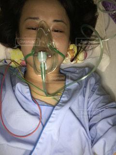 入院中の施術後の写真です。の写真・画像素材[1284594]