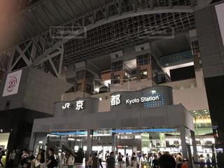 夜の京都駅の写真・画像素材[1288422]