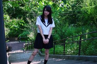 夏服の学生の写真・画像素材[1285633]