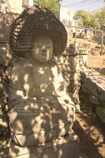 アフロヘアの仏像の写真・画像素材[1286280]