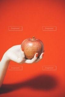 リンゴを持つ手の写真・画像素材[3333585]