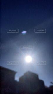 青い空のぼやけた画像の写真・画像素材[1288329]