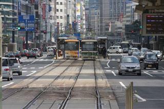 広島の路面電車の写真・画像素材[1863181]