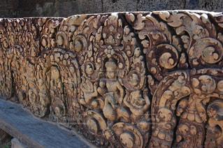 遺跡の壁の彫刻の写真・画像素材[1292899]