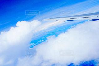 飛行機の窓からの風景の写真・画像素材[1302933]