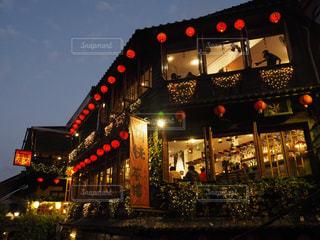 台湾・九份の夜景の写真・画像素材[1742121]