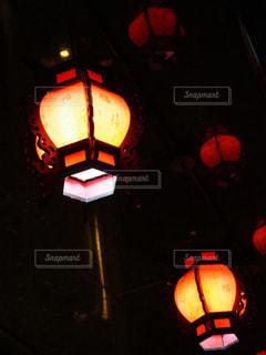 台湾の提灯の灯りの写真・画像素材[1742168]