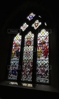 教会のステンドグラスの写真・画像素材[1762379]