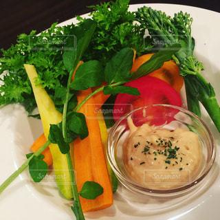 あいとう野菜のディップサラダの写真・画像素材[1292345]