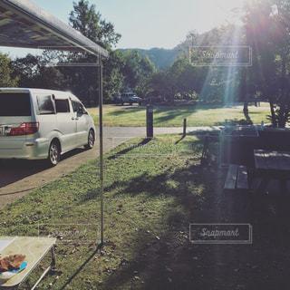 キャンプの朝②の写真・画像素材[1293808]