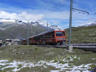 電車は山の中腹に駐車します。の写真・画像素材[1307746]