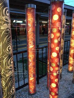 嵐山駅にての写真・画像素材[1303629]