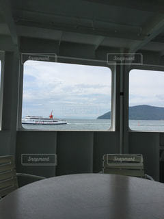 小豆島へ渡る船の中より。の写真・画像素材[1303678]