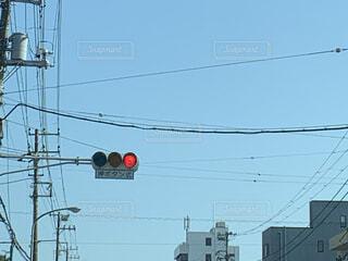 赤信号の写真・画像素材[4539448]