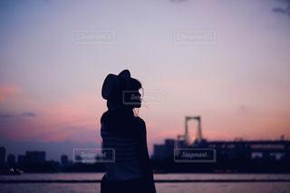 ピンクの夕焼けの写真・画像素材[1298437]