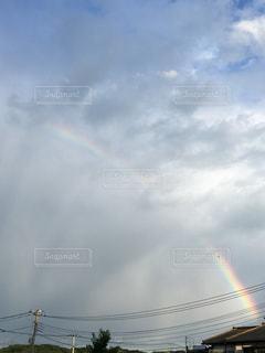空に虹の写真・画像素材[1300809]
