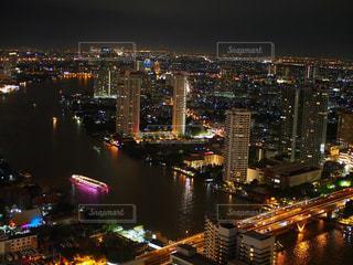 バンコク、ルブアからの夜景の写真・画像素材[1432481]