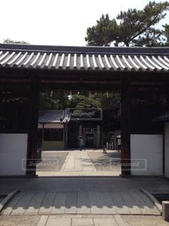 茨木城搦手門の写真・画像素材[1302669]