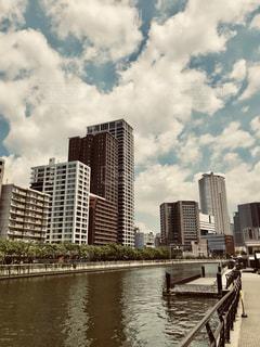 中之島駅から望む堂島の写真・画像素材[1322279]