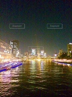 夜の天満橋の写真・画像素材[1322411]