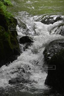 山中の急流の写真・画像素材[1297008]