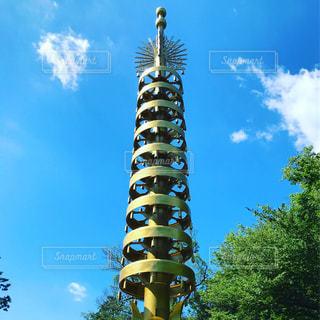 晴れた日の東大寺七重塔相輪の写真・画像素材[1296868]