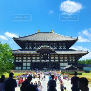 晴天の東大寺と観衆の写真・画像素材[1296879]