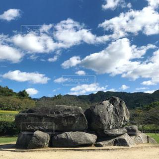 奈良、飛鳥の石舞台にての写真・画像素材[1296996]