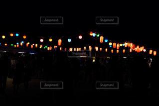 盆踊りの提灯の写真・画像素材[1302417]