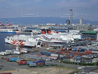 港の船でいっぱいの写真・画像素材[1318474]