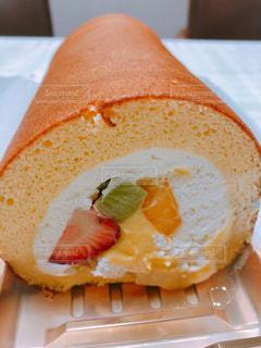 ロールケーキの写真・画像素材[1384571]