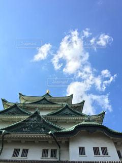 見上げた名古屋城の写真・画像素材[1300648]