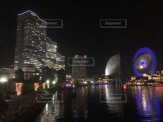 みなとみらいの夜景の写真・画像素材[2495615]