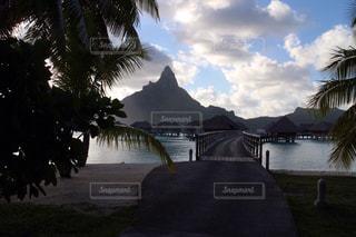 ボラボラ島のコテージの写真・画像素材[1298105]