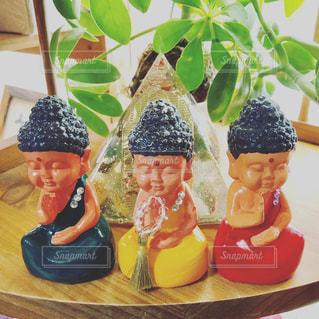 三体の大仏様の写真・画像素材[1299272]