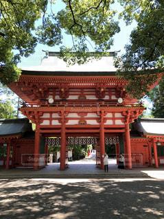 大宮氷川神社にてお宮参りの写真・画像素材[1300673]