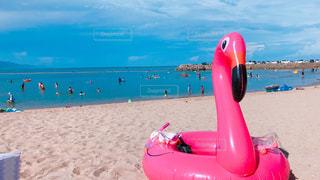 真夏のビーチの写真・画像素材[1383292]