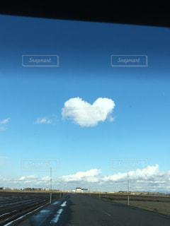 ハート雲の写真・画像素材[1301830]