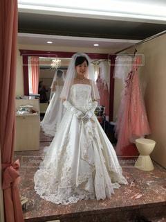 ウェディング ドレスの写真・画像素材[2078622]