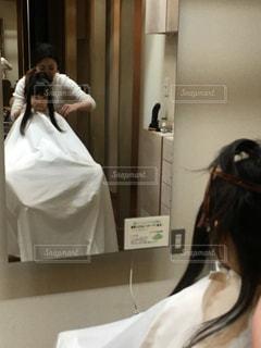 美容室に行きましたの写真・画像素材[1305989]