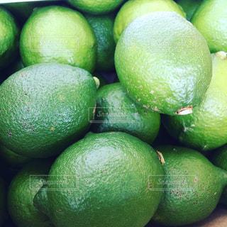 フレッシュな青レモンの写真・画像素材[1303645]