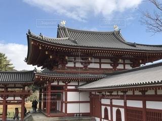 京都の平等院鳳凰堂の裏の写真・画像素材[1304407]