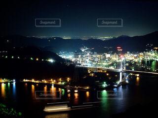 火の山展望台からの夜景の写真・画像素材[1329288]