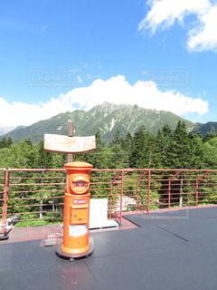 山上のポストの写真・画像素材[1443401]
